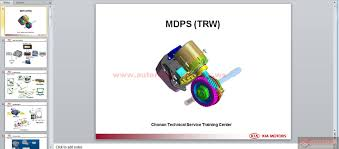kia mdps trw service training auto repair manual forum heavy