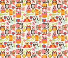 Owl Kitchen Curtains by Owls In Blue In The Land Of Boys Fabric By Aimeemarie On