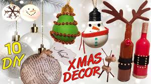 10 diy christmas recycled decoration how to youtube