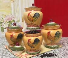 country kitchen canister set rooster kitchen canisters ebay