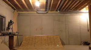 building a basement halfpipe update youtube