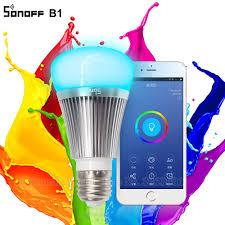 wifi enabled light bulb online cheap sonoff b1 led bulb dimmer wifi smart light bulbs remote