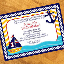 ahoy matey 1st birthday personalized invitations