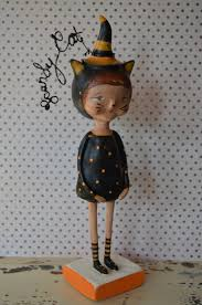 Folk Art Halloween Decorations 174 Best Paper Clay Art Images On Pinterest Art Dolls Paper