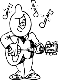 Anatomy And Physiology Songs Playing The Guitar And Say Song Man Coloring Page Wecoloringpage
