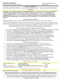 Training Resume Format Perfect Resume Example Resume Example And Free Resume Maker