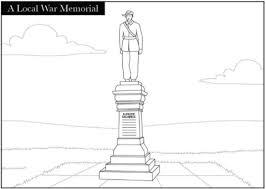 memorial coloring pages a local war memorial coloring page free printable coloring pages