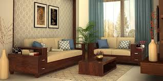 2 Sofas In Living Room by Wooden Sofa Sets Online Buy Solid Wood Sofa Set Upto 70 Off