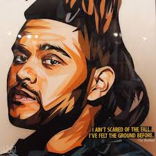 the weeknd inspired plaque mounted poster