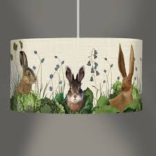 Rabbit Home Decor Cabbage Patch Rabbit Lampshade By Fabfunky Home Decor