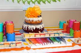 art party birthday cake nothing bundt cakes www talaevents com