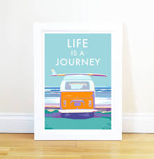 life is a journey vintage style seaside poster by becky life is a journey vintage style seaside poster