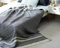 Woven Throw Rugs Woven Blanket Etsy