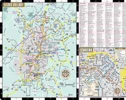 Map Of Atlanta Airport by Streetwise Atlanta Map Laminated City Center Street Map Of
