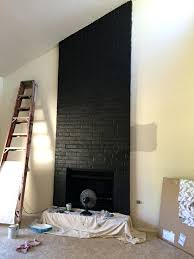 fireplace paint interior brick satin black enlivens for uk wall