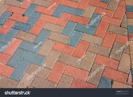 Brick Pavers Pictures by Diagonal Pattern Brick Pavers Herringbone Style Stock Photo
