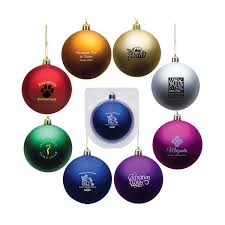 promotional shatter resistant ornaments corporate