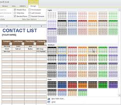Excel Tables Templates Theme Enabled Excel Templates