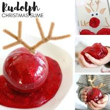 make slime for rudolph the reindeer themed science