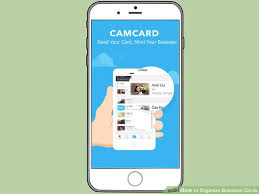 Text Your Business Card 3 Ways To Organize Business Cards Wikihow