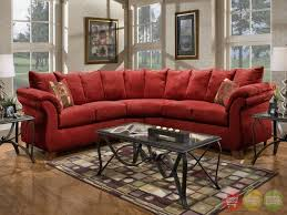 furnitures red sectional sofa new sensations red microfiber