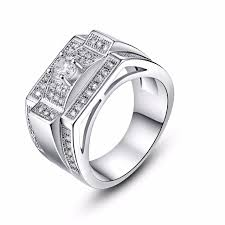 unique stone rings images Vintage unique design cz stone ring wedding band silver rings male jpg