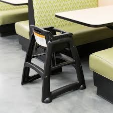 Rubbermaid Computer Desk Fg780608bla Black Restaurant High Chair Without Wheels Assembled