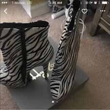 womens zebra boots s zebra print ankle boots on poshmark