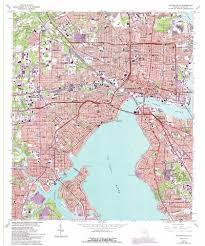 Map Of Jacksonville Fl Jacksonville Topographic Map Fl Usgs Topo Quad 30081c6
