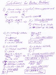 heritage high chemistry 2010 11 gas laws test study