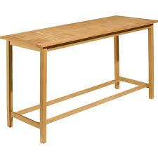 Patio Bar Table Dartmoor 7 Piece Natural Shorea Patio Bar Set W 78 3 4 Inch Table