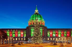 christmas lights san francisco san francisco city hall dressed in christmas lights christmas san