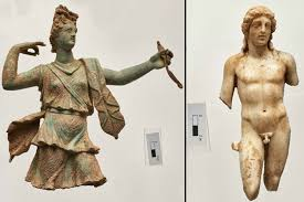 greek mythology statues statues of greek gods unearthed in crete