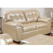 Simmons Leather Sofa with Soho Pearl Showtime Breathable Leather Sofa And Loveseat