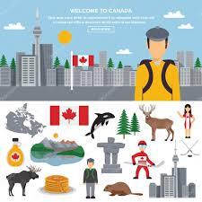 kanada fläche icon set kanada stockvektor 107162614
