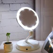 travel mirror images Led lighted folding vanity and travel mirror trendyshack jpg
