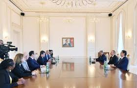 bureau international des expositions apa president ilham aliyev receives delegation of bureau
