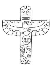 totem pole coloring pages for kids http fullcoloring com totem