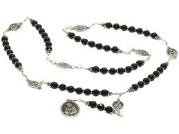 seven sorrows rosary sterling silver 7 sorrows rosary necklace onyx and 7 sorrows