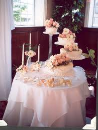wedding cake table decorations photo beautiful wedding cake and