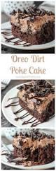 dirt cake halloween oreo dirt poke cake beyond frosting