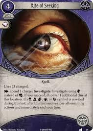 Seeking Card Rite Of Seeking The Dunwich Legacy Arkham Horror The Card