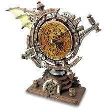 Steam Punk Home Decor Stormgrave Winged Steampunk Pedestal Mantle Clock Clocks Steam Punk