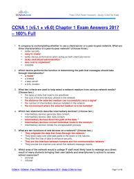 ccna 1 v5 1 v6 0 chapter 1 exam answers 2017 u2013 100 full