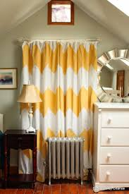 interior design gorgeous chevron curtains for home decoration chic interior design with yellow chevron curtains plus wooden floor and dresser with table lamp