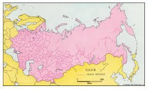 Siberia On World Map by Soviet Communications 1965 Philatelic Database