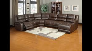 6 pc miller saddle brown bonded leather sectional sofa with