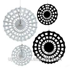 white paper fans best selling diy black and white paper fan tissue paper fan for