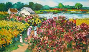 Flower Garden Hanoi by Lam Manh Original Asian Art Flower Garden 02