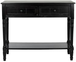 black console table with storage furniture antique black console table design featuring 2 drawers